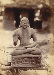 Inscribed statue of the Buddha, A.D. 448-9, found at Mankuwar, Allahabad District.